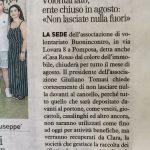Chiusura estiva associazione (articolo pubblicato sul Resto del Carlino del 25.07.2019)