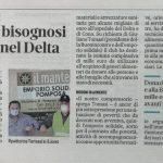 Continua la collaborazione tra il Lions Club Codigoro con il Mantello di Pomposa e la Buonincontro